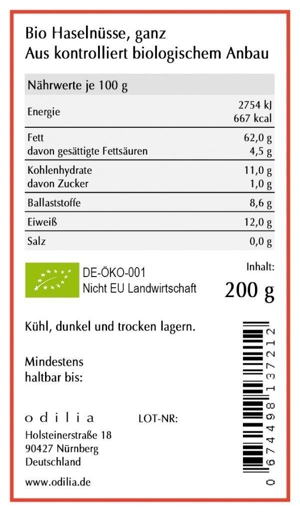 odilia Bio Haselnüsse